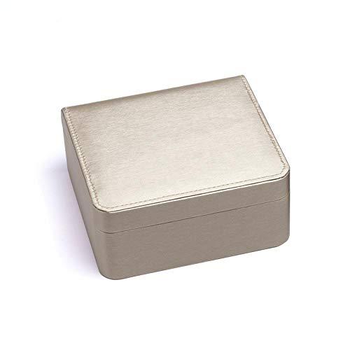 Caja de dibujo de alambre de PU caja de joyería multifuncional anillo caja de pendiente pulsera collar caja caja de embalaje de joyería-Caja de oro single_Set 15 * 14 * 7