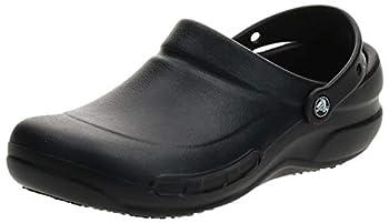 Crocs Unisex-Adult Women s Bistro Clog | Slip Resistant Work Shoes Black 14 Women/12 Men