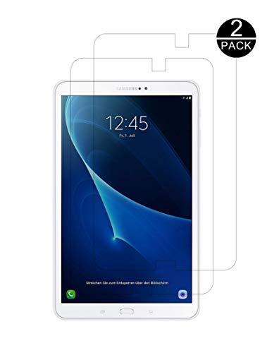 TECHKUN Panzerglas Schutzfolie Kompatibel mit Samsung Galaxy Tab A 10.1 2016 T580/T580N/T585N,[2 Stück] Schutzfolie für Samsung Galaxy Tab A T580 / T585 [10,1 Zoll]