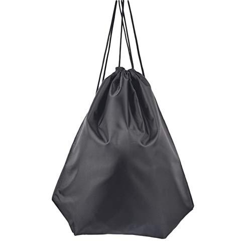 Demarkt - Bolsa de Deporte, Mochila Seca y húmeda, Impermeable, con cordón, 1 Unidad, Color Negro, tamaño 43 * 34CM