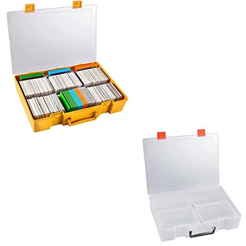 Product Image Large 2200+ Trading Card Game Holder Organizer, Deck Box Case Storage and Multifunctional Storage Box for Photo, Bead, Lego, Craft, Nail, Sticker, Seed, Washi Tape