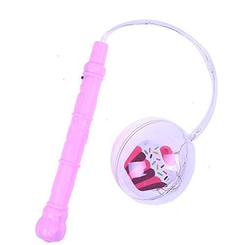 Juguete educativo YIHANK, bola de luz LED transparente parpadeante, lámpara flexible para decoración de fiestas de Navidad, juguetes para niños