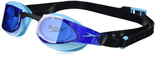 Speedo Elite Gog Au Black/Blue Occhialini da Nuoto, Unisex adulto, Black/Blue Taglia Unica