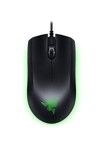 Razer Abyssus Essential Gaming Maus (mit 7.200 DPI Optischen Gaming Sensor und Beidhändigem Ergonomischen Design mit grüner LED Beleuchtung)