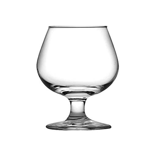 NAXIAOTIAO Copas De Vino Tinto Conjunto De Copas De Vino 6-Grandes, Copas De Vino De Tallo Largo Soplado A Mano, Boda De Cata De Vinos De Cristal Premium,Medium