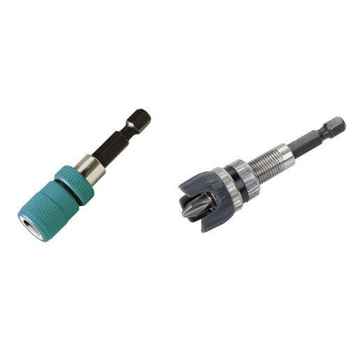 Wolfcraft 2411000 - Portapunta magnético y limitador de profundidad 60 mm + 4055000 - Portapuntas con tope profundidad.