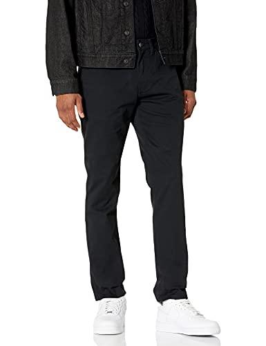 Amazon Essentials Men's Slim-Fit 5-Pocket Stretch Twill Pant, Black, 30W x 30L