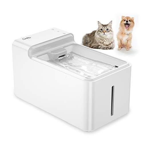 LAIKA Katzen Trinkbrunnen 29DB Leise Automatische Wasserbrunnen, 2,7L Katzenbrunnen Wasserspender mit 2 Organischer Aktivkohlefilters für Katze, kleine Hunde und Welpen