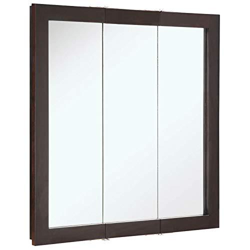 Design House 541342 Ventura Framed Mirrored Medicine Cabinet in Espresso, 30