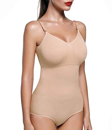 COMFREE Body Sculptant Gaine Amincissante Femme Body Gainant Lingerie Sculptante Body Shaper Beige S