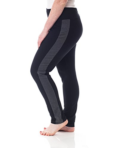 Style and Co. Tummy Control Skinny Active Plus Size Pants BlackGrey 1X