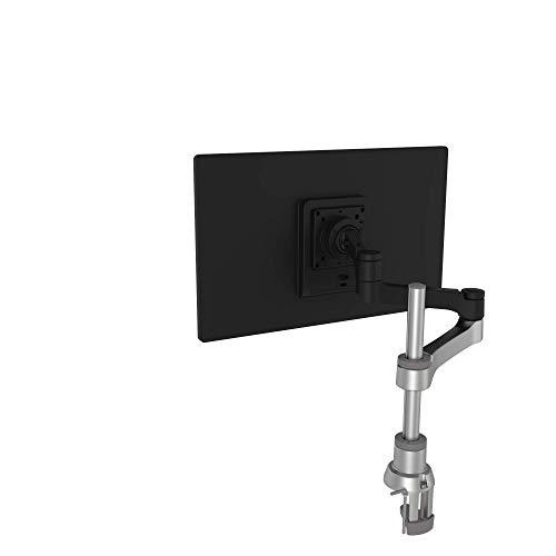 R-Go Zepher 4 C2 Monitorständer-Vollständig verstellbarer-Tischhalterung-8 kg Tragkraft-Modulares Design-Wiederverwertbare Materialien-Schwarz/Silber
