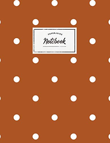 Notebook: Beautiful rust/red polkadot design ★ Personal notes ★ Daily diary ★ Office supplies |  8.5 x 11 - big  notebook | 150 pages | College ruled (Scandinavian collection, Band 30)