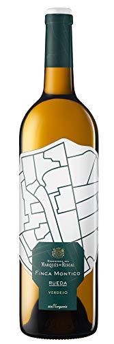 Marqués de Riscal - Vino blanco Finca Montico Denominación de Origen Rueda, Variedad 100% Verdejo, 100% Organic con certificación ecológica - Botella individual 750 ml