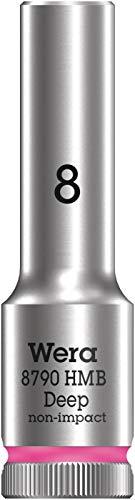 Wera 05004530001 8790 HMB Deep Chiave a bussola, attacco da 3/8', 8 mm