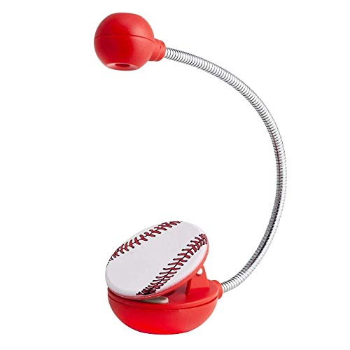 WITHit Clip On Book Light – Baseball – LED Reading Light with Clip for Books and eBooks, Reduced Glare, Portable and Lightweight, Cute Bookmark Light for Kids and Adults, Batteries Included