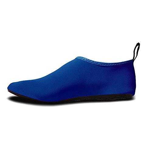 HWHSZ Schwimmschuhe Strandsocken Schuhe Schnorchelkinder Badeschuhe rutschfeste, Schnittfeste, Schnell Trocknende, VerschleißFeste Watschuhe,Blue-22