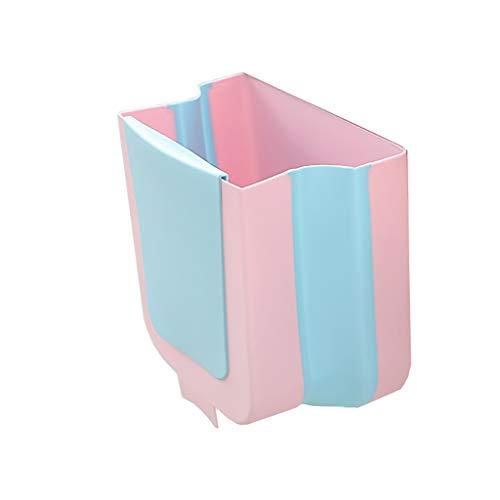 SXXYXH Cubo de Basura Plegable, Mini Caja de Almacenamiento de Basura Colgante de Escritorio para Alimentos de Cocina, Contenedor de Puerta sobre Puerta de gabinete de Cocina Cubo