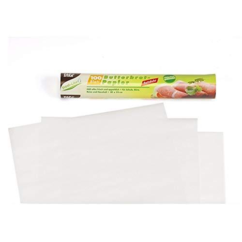 Butterbrotpapier, 25x30cm, 100Blatt