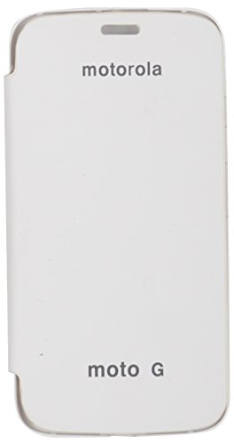 iCandy™ Synthetic Leather Flip Cover for Motorola Moto G 1st GEN - White