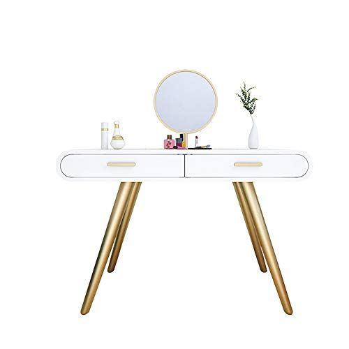 Fantastic Prices! ChenyanAwesom Dressing Tables Vanity Table Gloss White Console Table Computer Make...