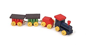 Darice Miniature - Painted Wood Tiny Train - .75 inch - 1 Set