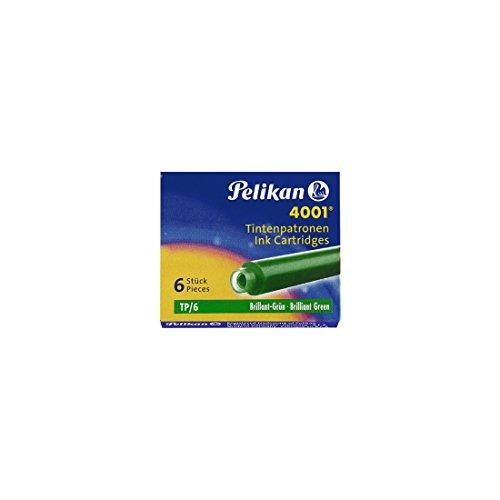 Pelikan TP/6 - Recambio de bolígrafo (Verde, Verde, Pluma estilográfica, 6 pieza(s))