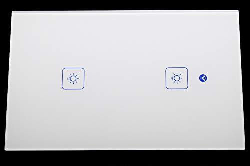 Interruptor táctil Wi-Fi US color blanco con 2 botones Alexa google Home