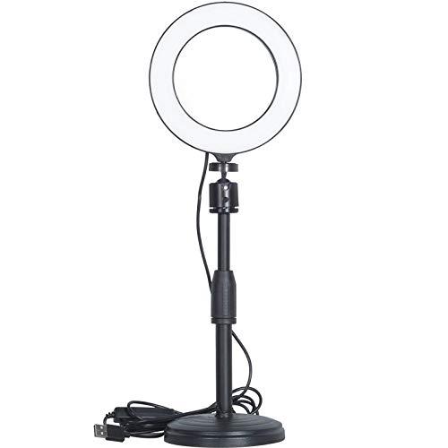 Verstelbare 18 tot 28cm hoogte metalen bureau make-up licht desktop standaard montagebeugel voor fotografie LED make-up spiegel ringlicht