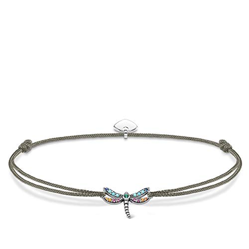 THOMAS SABO Damen Armband Little Secret Libelle Geschwärzt 925 Sterling Silber LS073-298-7-L20v