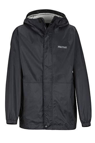 Marmot Boy's Precip Eco Jacket Chubasqueros Niña, Chaqueta Impermeable, A Prueba De Viento, Impermeable, Transpirable, Niños, Black, XL