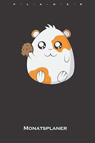 süßes Meerschweinchen mit Cookie Monatsplaner: Monatsübersicht (Termine, Ziele, Notizen, Wochenplan) für Tierfreunde und alle mit Haustieren