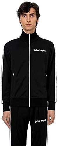 OEDO Hübsches Sportswear-Set Palm Angel Langarm-Kapuzen-Sweatshirt Fitness-Fitness-Hose Mit Yoga-Trainingsanzug (Black,S)