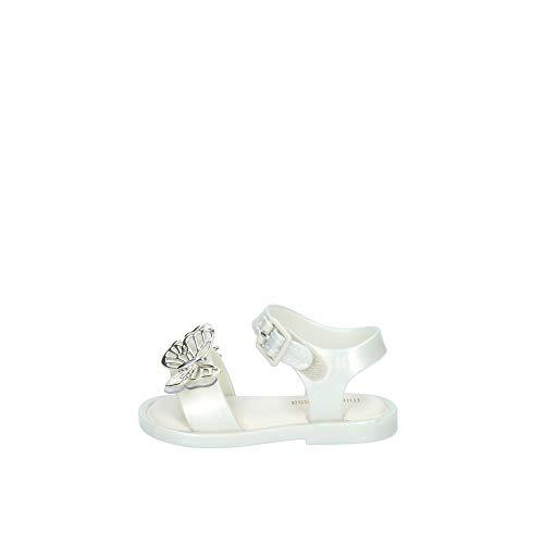 Melissa Mini Mar Butterfly Sandale für Kleinkinder, mit Schnalle, Perle, Elfenbein - pearl - Größe: 22 EU