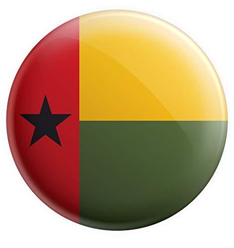 AK Giftshop Anstecker mit Guinea-Bissau-Flagge, groß, 75 mm, Geschenk für Geburtstag, Weihnachten, Nikolaus, Sammler