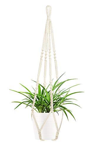TETOK Macrame Plant Hanger, Indoor Outdoor Hanging Planter, Handmade Hanging...