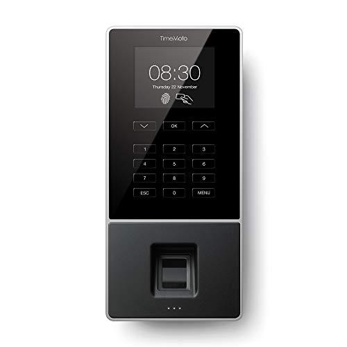 TimeMoto TM-626 - Terminal para fichar con huella dactilar y RFID, hasta 200 usuarios - Incluida la solución de gestión de los empleados