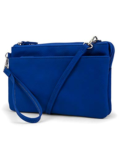 Mundi Brady Anti Theft Women's Cell Phone Crossbody Bag RFID Purse Wallet (Azul)