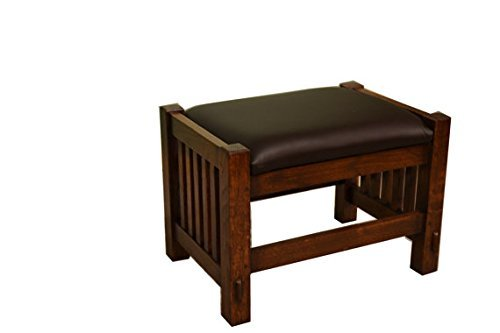 Crafters and Weavers Solid Oak Mission Style Foot Stool Footstool Ottoman