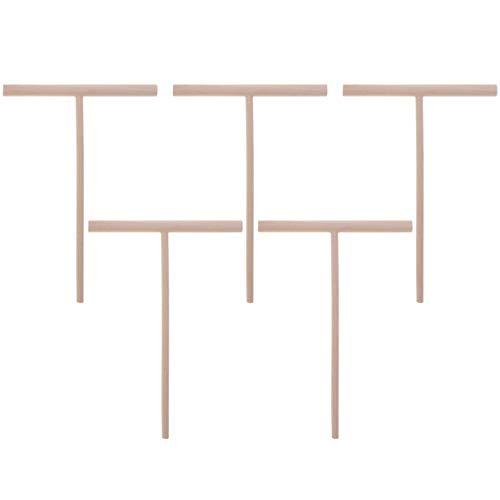 UPKOCH 5pcs Crêpesverteiler Crêpes Verteiler Holz Teig Spreizer Crêpes-Teigverteiler Verteiler Holz Spatel