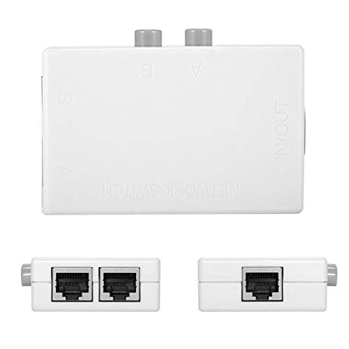 Cblecc UTP STP 2 en 1 hacia fuera 2 puertos RJ45 LAN CAT interruptor de red selector interno externo conmutador divisor caja