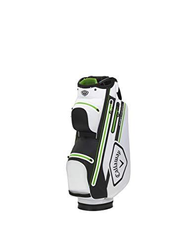 Callaway Golf Sacca da Carrello Chev Dry, 2021, Bianco/Nero/Verde