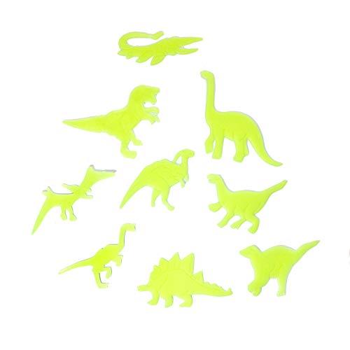 Oblique Unique® Wandtattoo Leuchtaufkleber Leuchtsticker Fluoreszierende Aufkleber Wandsticker Dinosaurier Sterne Bunt - Wählbar (Dino)