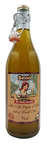 Basso Olio Extra Vergine di Oliva Non Filtrato 1000ml (1 x 1,0l)