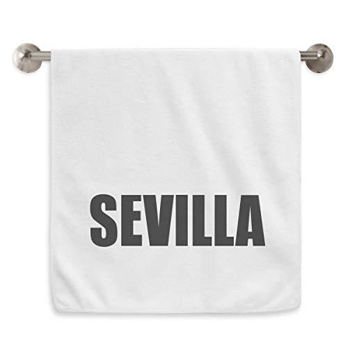 DIYthinker Sevilla españa Nombre de la Ciudad Circlet Blanca Toallas Toalla Suave paño de 13x29 Pulgadas 13 x 29 Pulgadas Blanco