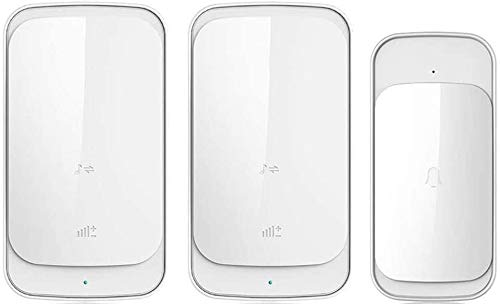 BBGSFDC Entrada Bell Wireless Doorbell Home Touch Puerta Táctil Electrónica Control Remoto Batería remota Villa Portero Viejo Pager One for una Puerta Chime (Color : White B)