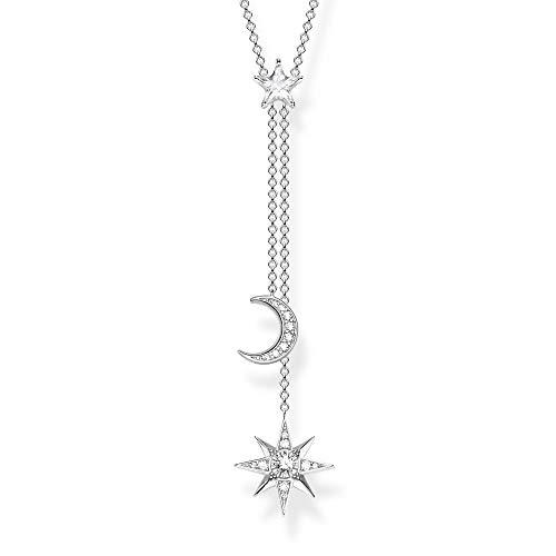 Thomas Sabo Damen-Kette Stern & Mond silber 925 Sterlingsilber KE1900-051-14-L45v