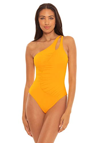 Soluna Women's Maillot One Shoulder One Piece Swimsuit Goldenrod M