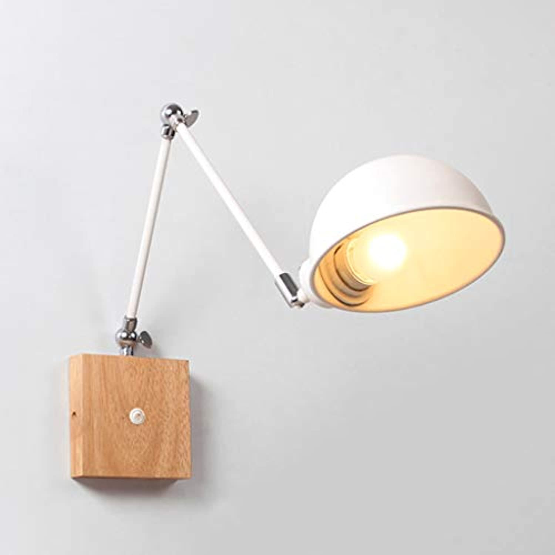 Wandleuchte kreative Schlafzimmer Massivholz einziehbare langen Arm Gang Lesung Wand Hngelampe