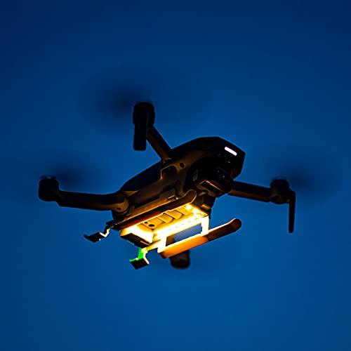SOBW Pies de aterrizaje, chasis de aterrizaje, chasis plegable de altura extendida con LED para DJI Mini 2 / Mavic Mini Drone